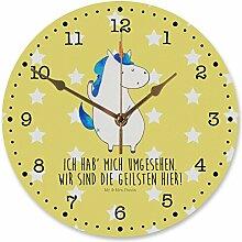 Mr. & Mrs. Panda 30 cm Wanduhr Einhorn Mann - 100% handmade in Norddeutschland - Einhorn, Einhörner, Unicorn, cool, Mann, Freundin, Familie, bester Freund, BFF, Party, hübsch, beste Wanduhr, Uhr, Kunderuhr, Kinderzimmer, Rund, Druck Einhorn, Einhörner, Unicorn, cool, Mann, Freundin, Familie, bester Freund, BFF, Party, hübsch, beste