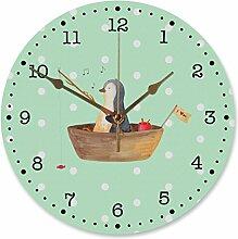 Mr. & Mrs. Panda 30 cm Wanduhr Pinguin Angelboot -