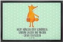 Mr. & Mrs. Panda 40 x 60 Fußmatte Fuchs Laterne -