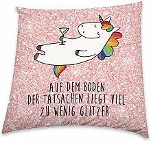 Mr. & Mrs. Panda 80x80 Kissen Einhorn Cocktail -