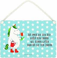 Mr. & Mrs. Panda A5 Deko Schild Einhorn Gärtner -