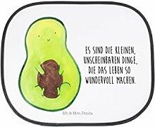 Mr. & Mrs. Panda Auto Sonnenschutz Avocado mit Kern - 100% handmade in Norddeutschland - Avocado, Avokado, Avocadokern, Kern, Pflanze, Spruch Leben Sonnenschutz, Auto, Sonnenblende, Fenster, PKW, Kinder, Familie, Geschenk, Rücksitz