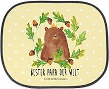 Mr. & Mrs. Panda Auto Sonnenschutz Bär König - 100% handmade in Norddeutschland - Bär, bester Vater, Sonnenblende, Auto, Papa, Papa Bär, Rücksitz, bester Papa, Dad, Daddy, Kunstfaser, Fenster