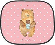 Mr. & Mrs. Panda Auto Sonnenschutz Bär mit Baby - 100% handmade in Norddeutschland - PKW, Mutter, Geburt, Täufling, Kinder, Glückwunsch, Nichte, Geburtstag, Neffe, Sonnenblende, Enkel, Rücksitz