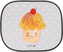 Mr. & Mrs. Panda Auto Sonnenschutz Cupcake - 100% handmade in Norddeutschland - Auto, Sonnenblende, Küche Spruch, Geschenk Koch, Rücksitz, Muffin, Küche Deko, Motivation Sprüche, Kinder, Sonnenschutz, Kunstfaser, Wunder