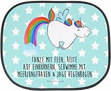 Mr. & Mrs. Panda Auto Sonnenschutz Einhorn Pegasus - 100% handmade in Norddeutschland - Familie, Sonnenschutz, Auto, Fenster, PKW, Rücksitz, Glitzer, Regenbogen, Geschenk, Kinder, Realität, Kunstfaser