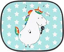 Mr. & Mrs. Panda Auto Sonnenschutz Einhorn Sänger - 100% handmade in Norddeutschland - Geburtstag, Auto, Einhorn, Fest, Geschenk, Sänger, Unicorn, Glitzer, Kunstfaser, Party, Familie, Fenster
