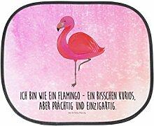 Mr. & Mrs. Panda Auto Sonnenschutz Flamingo classic - 100% handmade in Norddeutschland - Flamingo, Einzigartig, Selbstliebe, Stolz, ich, für mich, Spruch, Freundin, Freundinnen, Außenseiter, Sohn, Tochter, Geschwister Sonnenschutz, Auto, Sonnenblende, Fenster, PKW, Kinder, Familie, Geschenk, Rücksitz