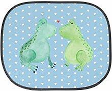 Mr. & Mrs. Panda Auto Sonnenschutz Frosch Liebe - 100% handmade in Norddeutschland - Kinder, Geschenk Freundin, Fenster, Auto, Verlobung, Geschenk Freund, Rücksitz, Sonnenblende, Liebesbeweis, Hochzeitstag, PKW, Partner