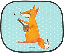 Mr. & Mrs. Panda Auto Sonnenschutz Fuchs Gitarre - 100% handmade in Norddeutschland - Fuchs, Füchse, Geschenk Musiker, Musik Spruch, Musikerin, Sänger, Sängerin, Gitarre, Sonnenschutz, Auto, Sonnenblende, Fenster, PKW, Kinder, Familie, Geschenk, Rücksitz
