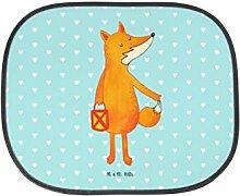 Mr. & Mrs. Panda Auto Sonnenschutz Fuchs Laterne - 100% handmade in Norddeutschland - Sonnenblende, Kunstfaser, Geschenk, Rücksitz, Laterne, Sonnenschutz, Spruch trösten, Kinder, Füchse, Laternenumzug, PKW, Fuchs