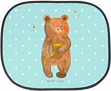Mr. & Mrs. Panda Auto Sonnenschutz Honigbär - 100% handmade in Norddeutschland - Sonnenblende, Verliebte, Kinder, Honig, Honigbär, Liebe, Fenster, Geschenk, Geschenk, Auto, Partner, Rücksitz