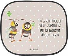 Mr. & Mrs. Panda Auto Sonnenschutz Hummeln mit Kleeblatt - 100% handmade in Norddeutschland - Hummel, Biene, Spruch positiv, Biene Deko, Spruch schön, glücklich sein, glücklich werden, Spruch fröhlich Sonnenschutz, Auto Sonnenschutz, Sonnenblende, Fenster, PKW, Kinder, Familie, Geschenk, Urlaub, Rücksitz, Sonne Hummel, Biene, Spruch positiv, Biene Deko, Spruch schön, glücklich sein, glücklich werden, Spruch fröhlich