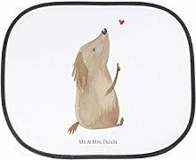 Mr. & Mrs. Panda Auto Sonnenschutz Hund Liebe - 100% handmade in Norddeutschland - Sonnenschutz, Auto, Sonnenblende, Fenster, PKW, Kinder, Familie, Geschenk, Rücksitz