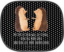 Mr. & Mrs. Panda Auto Sonnenschutz Igel Liebe - 100% handmade in Norddeutschland - Liebe, Verliebt, Verlobt, Verheiratet, Partner, Freund, Freundin, Geschenk Freundin, Geschenk Freund, Liebesbeweis, Jahrestag, Hochzeitstag, Verlobung, Geschenk Hochzeit, Igel, Igelpaar, Igelchen Sonnenschutz, Auto, Sonnenblende, Fenster, PKW, Kinder, Familie, Geschenk, Rücksitz