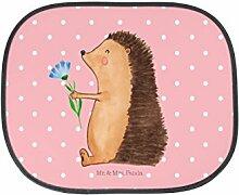 Mr. & Mrs. Panda Auto Sonnenschutz Igel mit Blume - 100% handmade in Norddeutschland - Auto, Krankenhaus, Besuch, Igel, Genesungswünsche, Sonnenschutz, Krankheit, Kunstfaser, krank, Fenster, Geschenk, Gute Besserung