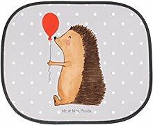 Mr. & Mrs. Panda Auto Sonnenschutz Igel mit Luftballon - 100% handmade in Norddeutschland - Kinder, Rücksitz, Geburtstagskind, Sonnenschutz, Glückwunsch, Familie, Geburtstag, Fenster, Auto, Happy Birthday, Igel, PKW