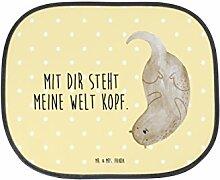 Mr. & Mrs. Panda Auto Sonnenschutz Otter kopfüber - 100% handmade in Norddeutschland - Otter Seeotter See Otter Sonnenschutz, Auto, Sonnenblende, Fenster, PKW, Kinder, Familie, Geschenk, Rücksitz