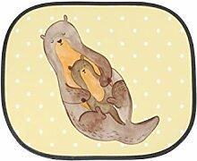 Mr. & Mrs. Panda Auto Sonnenschutz Otter mit Kind - 100% handmade in Norddeutschland - Otter Seeotter See Otter Sonnenschutz, Auto, Sonnenblende, Fenster, PKW, Kinder, Familie, Geschenk, Rücksitz