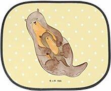 Mr. & Mrs. Panda Auto Sonnenschutz Otter mit Kind - 100% handmade in Norddeutschland - Otter Seeotter See Otter, Auto, Kunstfaser, Fenster, Sonnenblende, Familie, Sonnenschutz, PKW, Geschenk, Kinder, Rücksitz