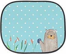Mr. & Mrs. Panda Auto Sonnenschutz Otter mit Stein - 100% handmade in Norddeutschland - Otter Seeotter See Otter Sonnenschutz, Auto, Sonnenblende, Fenster, PKW, Kinder, Familie, Geschenk, Rücksitz