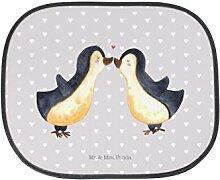 Mr. & Mrs. Panda Auto Sonnenschutz Pinguin Liebe - 100% handmade in Norddeutschland - Auto, Hochzeitstag, Geschenk Freundin, Pinguin, Kunstfaser, Pinguinpaar, Verlobte, Sonnenblende, Geschenk Freund, Liebe, Hochzeit, Verlobter