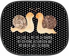 Mr. & Mrs. Panda Auto Sonnenschutz Schnecken Liebe - 100% handmade in Norddeutschland - Sonnenschutz, Auto, Sonnenblende, Fenster, PKW, Kinder, Familie, Geschenk, Rücksitz