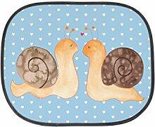 Mr. & Mrs. Panda Auto Sonnenschutz Schnecken Liebe - 100% handmade in Norddeutschland - , Fenster, Kinder, Sonnenschutz, Auto, Geschenk, Familie, Rücksitz, PKW, Kunstfaser, Sonnenblende