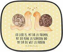 Mr. & Mrs. Panda Auto Sonnenschutz Schnecken Liebe - 100% handmade in Norddeutschland - Kinder, Auto, Familie, PKW, Rücksitz, Sonnenblende, , Kunstfaser, Sonnenschutz, Geschenk, Fenster
