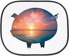 Mr. & Mrs. Panda Auto Sonnenschutz Schwein - 100% handmade in Norddeutschland - Schwein, Glück, Bauernhof, Schinken, Sau, Glücksbringer, Ferkel Sonnenschutz, Auto, Sonnenblende, Fenster, PKW, Kinder, Familie, Geschenk, Rücksitz