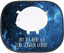 Mr. & Mrs. Panda Auto Sonnenschutz Schwein - 100% handmade in Norddeutschland - Sonnenschutz, Rücksitz, Kinder, Fenster, Sau, Schwein, Sonnenblende, PKW, Geschenk, Schinken, Familie, Kunstfaser