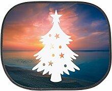 Mr. & Mrs. Panda Auto Sonnenschutz Weihnachtsbaum - 100% handmade in Norddeutschland - Weihnachtsbaum, Weihnachtsbäumchen, Tannenbaum Sonnenschutz, Auto, Sonnenblende, Fenster, PKW, Kinder, Familie, Geschenk, Rücksitz Weihnachtsbaum, Weihnachtsbäumchen, Tannenbaum
