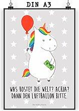 Mr. & Mrs. Panda Bild, Geschenk, Poster DIN A3