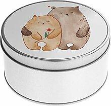 Mr. & Mrs. Panda , Blechdose rund Bären Liebe -