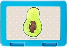 Mr. & Mrs. Panda Brotdose Avocado mit Kern - 100% handmade in Norddeutschland - Avocado, Essendose, Geschenk, Schülerin, Vesperdose, Avocadokern, Pflanze, Dose, Schule, Brot, Spruch Leben , Arbei