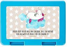 Mr. & Mrs. Panda Brotdose Einhorn verliebt auf Wolke - 100% handmade in Norddeutschland - Einhorn, Einhörner, Unicorn, verliebt, Liebe, Liebesbeweis, Freundin, Wolke Brotdose, Vesperdose, Frühstücksdose, Schule, Brot, Geschenk, Arbeit, Dose, Frühstück, Essendose, stabil, Kind, Schüler, Schülerin