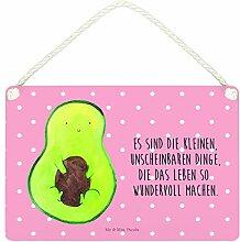Mr. & Mrs. Panda Deko Schild Avocado mit Kern - 100% handmade in Norddeutschland - Avokado, Pflanze, , Avocadokern, Wanddeko, Dekoschild, Schild, Spruch Leben , Kern, Avocado