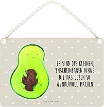 Mr. & Mrs. Panda Deko Schild Avocado mit Kern - 100% handmade in Norddeutschland - Avocadokern, Avocado, Pflanze, Kern, Schild, Wanddeko, Dekoschild, Avokado, Spruch Leben ,
