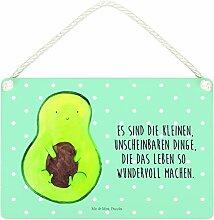 Mr. & Mrs. Panda Deko Schild Avocado mit Kern - 100% handmade in Norddeutschland - Schild, , Pflanze, Avocadokern, Wanddeko, Spruch Leben , Dekoschild, Avocado, Avokado, Kern
