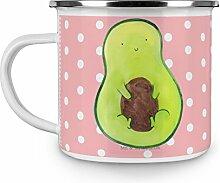 Mr. & Mrs. Panda Emaille Tasse Avocado mit Kern - 100% handmade in Norddeutschland - Tasse, Pflanze, Metalltasse, Kaffeetasse, Avokado, , Camping, Kaffeebecher, Campingbecher, Emaille Tasse, Becher, Avocado