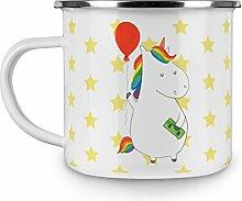 Mr. & Mrs. Panda Emaille Tasse Einhorn Luftballon