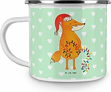 Mr. & Mrs. Panda Emaille Tasse Fuchs Weihnachten -
