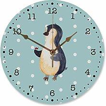 Mr. & Mrs. Panda Flüsteruhrwerk, Uhr, 30 cm