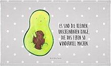 Mr. & Mrs. Panda Gäste Handtuch Avocado mit Kern - 100% handmade in Norddeutschland - Avocado, Avokado, Avocadokern, Kern, Pflanze, Spruch Leben Gästehandtuch, Handtuch, Handtücher