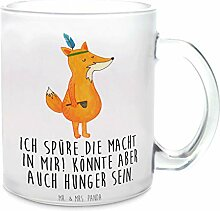 Mr. & Mrs. Panda Glas, Tasse, Glas Teetasse Fuchs
