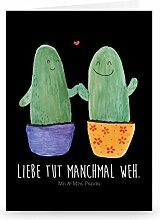 Mr. & Mrs. Panda Grußkarte Kaktus Liebe - Kaktus,