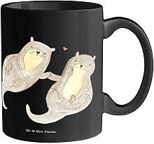 Mr. & Mrs. Panda Kaffeetasse, Becher, Tasse Otter