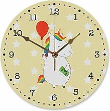 Mr. & Mrs. Panda Kinderzimmer, Uhr, 30 cm Wanduhr
