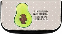 Mr. & Mrs. Panda Kosmetiktasche Avocado mit Kern - 100% handmade in Norddeutschland - Avocado, Avokado, Avocadokern, Kern, Pflanze, Spruch Leben Kosmetiktasche, Kosmetikbeutel, Beutel, Kosmetik, Kulturtasche, Schlampermäppchen, Mäppchen, Kulturbeutel, Schminktasche