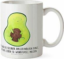 Mr. & Mrs. Panda Kunststoff Tasse Avocado mit Kern - 100% handmade in Norddeutschland - Avocado, Avokado, Avocadokern, Kern, Pflanze, Spruch Leben Kunststoff Tasse, Bruchfest, Kinder, Kindergarten, Tasse, Kindertasse, Trinkbecher, Camping Becher